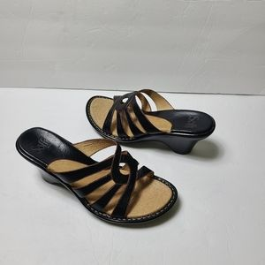 NEW SOFFT leather wedge mules